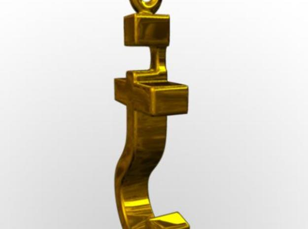 Devout Agnostic 3d printed Rendered in gold with Maya.