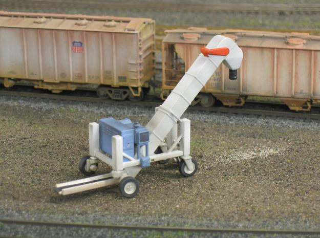 HO 1/87 Conveyor Unloader - Rail Hoppers/Road tank 3d printed Note the radiator, fuel tank, exhaust stack & control box.