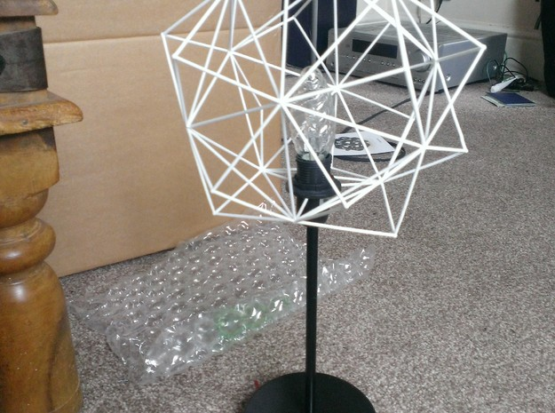 Origami Icosahedron 3d printed