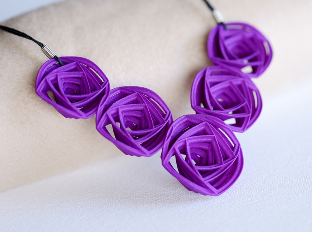Rose Stripes Necklace 3d printed Add a caption...