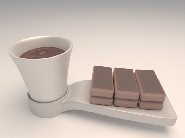 Mug (for side connected dish coaster) 3d printed