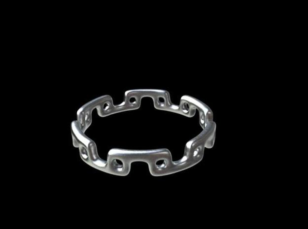 Alternating Links - Ring 3d printed Render