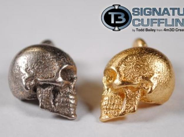 Signature Skull Cufflink - Left 3d printed Description
