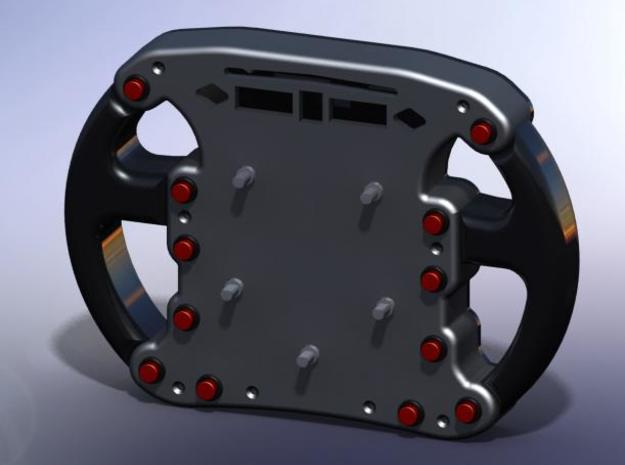 Steering Wheel Back 3d printed Front and Rear attached (FRONT VIEW)