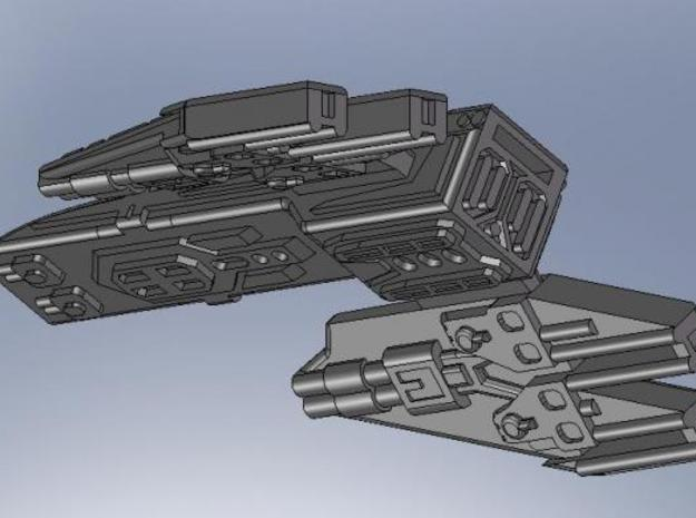 stealth frigate 3d printed Screenshot of the model