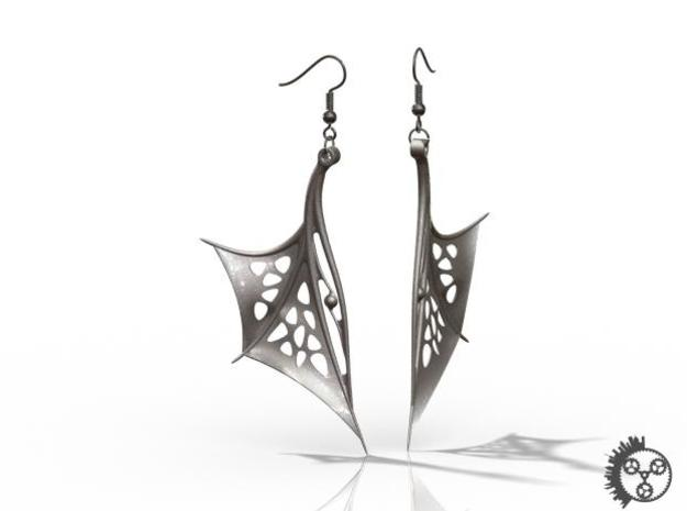 Wing Earrings - Fishhooks 3d printed Example Render