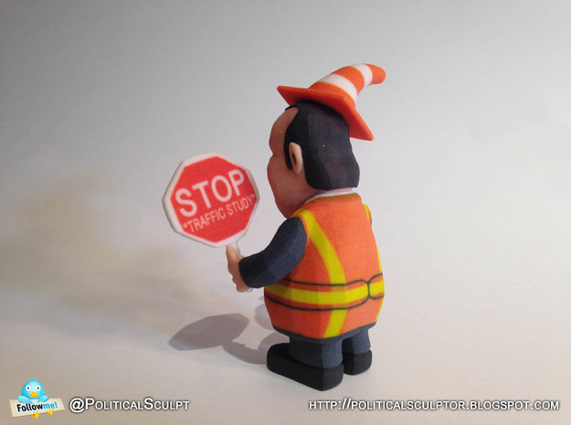 Chris Christie directing traffic BridgeGate 3d printed