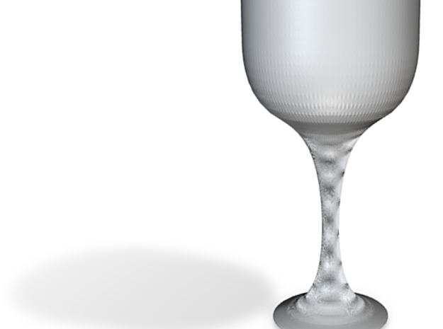 Big glass of wine 3d printed