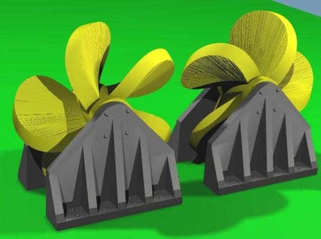 Propeller Load for Flat Car - Z Scale 3d printed Color Render