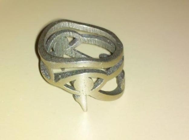 Egyptian Eye of Horus Ring 3d printed photo