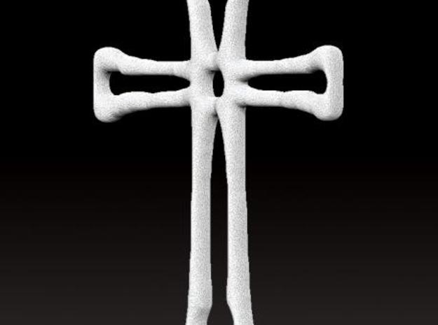Cross Pendant (3cms) 3d printed Rendered image
