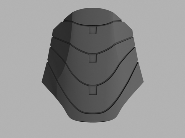 Iron Man Mark IV Abdominal Plate 3d printed CG Rendering (Front)