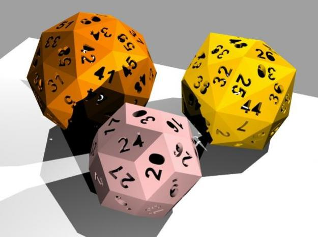 Catalan dice bundle 3 3d printed Rendering