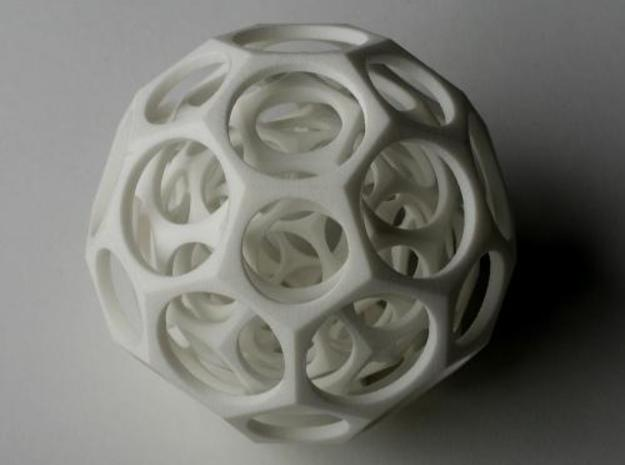 Nested truncated icosahedra 3d printed Description