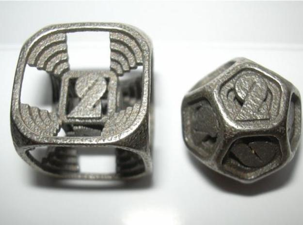Stepped Die D12 3d printed D6 and D12
