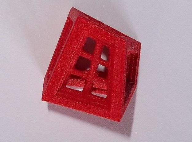 Windows die 3d printed WSF print, acrylic painted