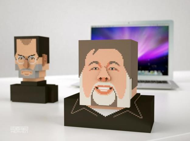 Steve Wozniak bust 3d printed Jobs and Woz 1