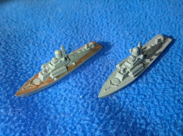 1/1250 Nanuchka Soviet Missile Corvette X 2 3d printed partially painted