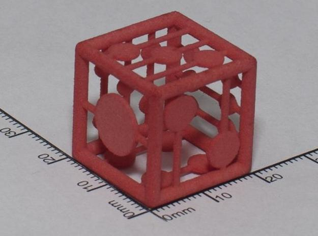 grid die 3d printed WSF died red at home