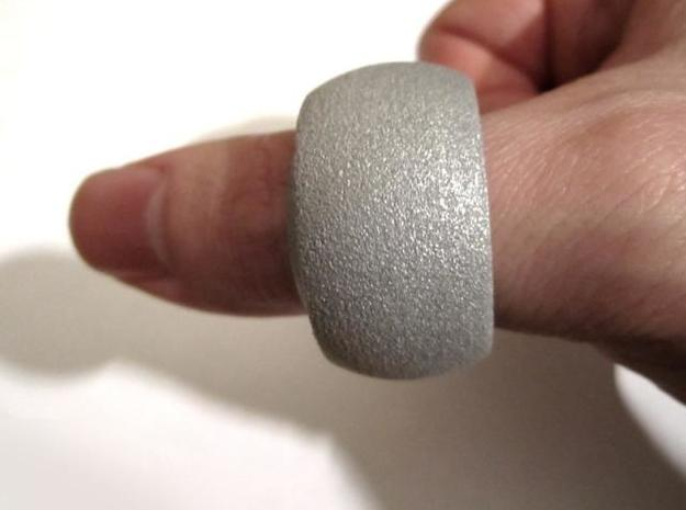 Ring'n'Roll 3d printed Alumide (on thumb)