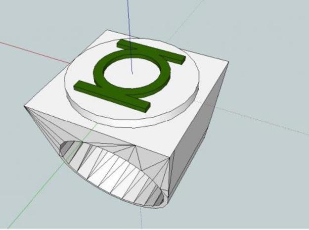 Green lantern ring 3d printed Description