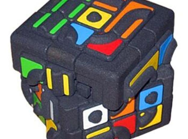 Get Stuck Cube 3d printed Turning like a Rubik's Cube