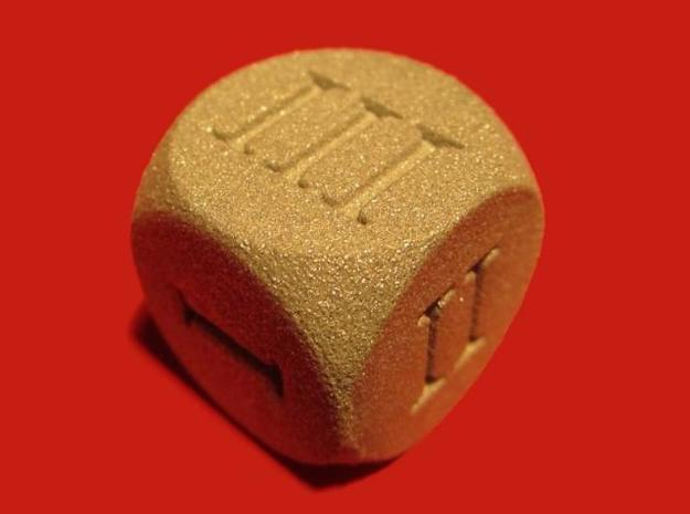 All Round D6 Dice 3d printed On example: the Roman one in Alumide