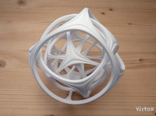 Gyro the Cube (XL) 3d printed White Strong & Flexi