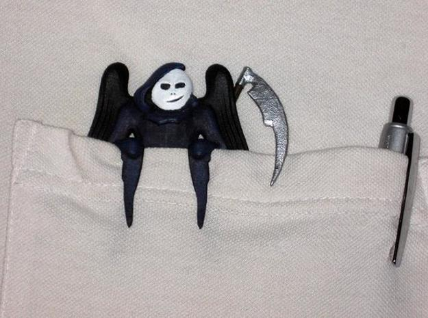 Pocket Reaper 3d printed WSF Print and painted - closeup