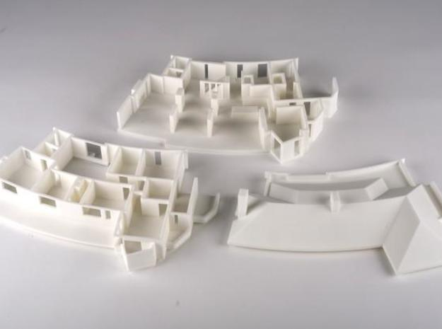 MV's house, first floor 3d printed All three sections of the house
