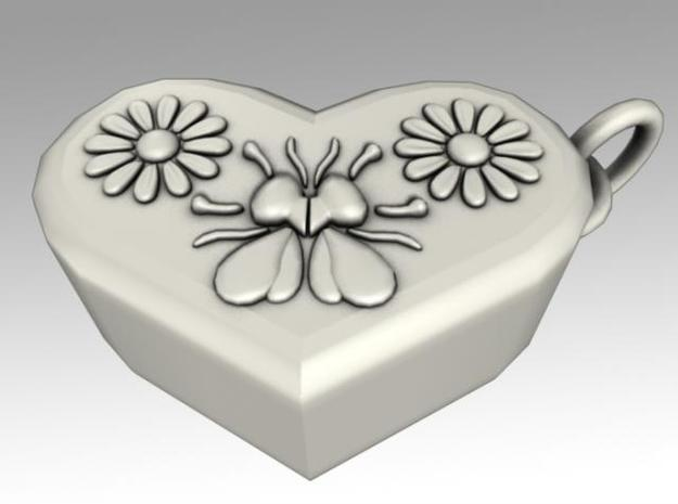 Heartbox Locket (Bee) 3d printed Back side.