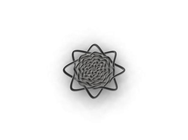 Celtic Knot Pendant 3d printed rendered view
