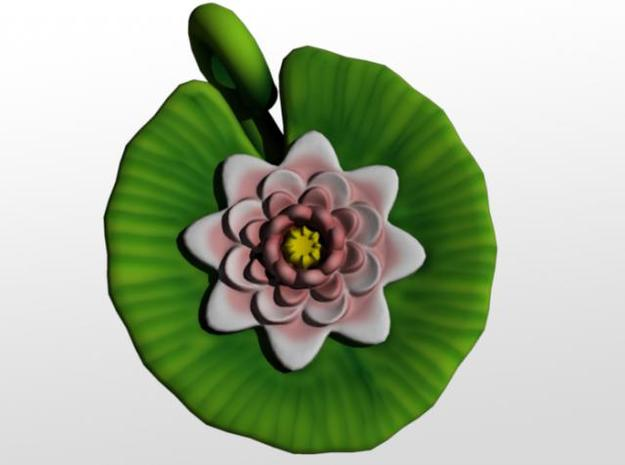Lily Pendant 3d printed Front