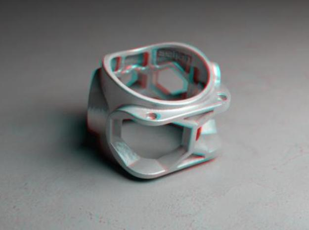 1086 ToolRing - size 11 (20,60 mm) 3d printed 1086 ToolRing - Anaglyph (back)