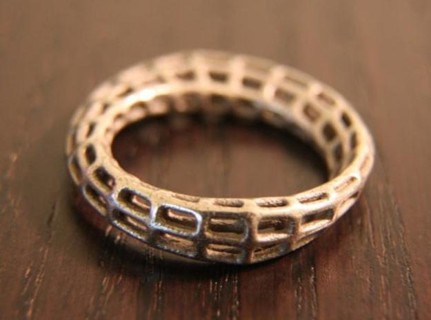 Wireframe Mobius Strip 3d printed Stainless Steel