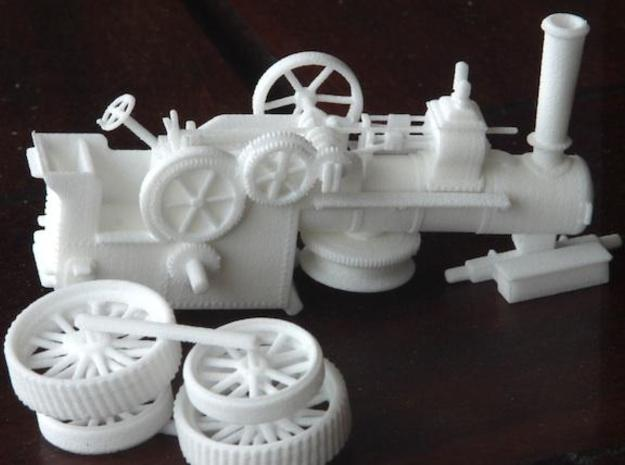 1000-1 Fowler Plough Engine Wheels 1:87 3d printed Engine with kit wheels