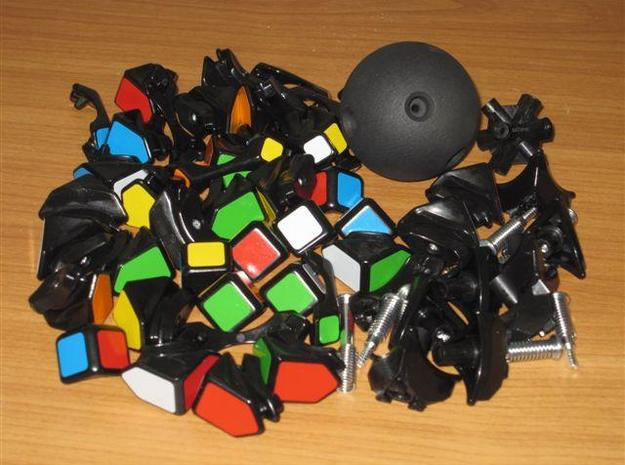 Mosaic Cube Sphere Core 3d printed Mosaic Cube completely disassembled