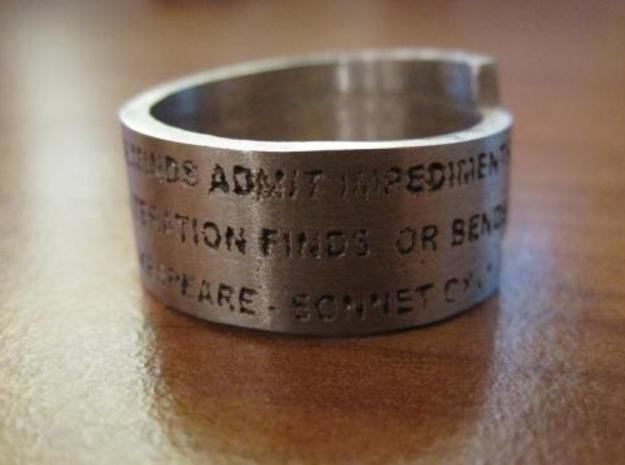 Sonnet Ring 3d printed Ring polished 3
