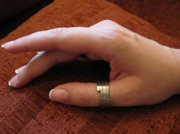 Sonnet Ring 3d printed Hand with Sonnet Ring