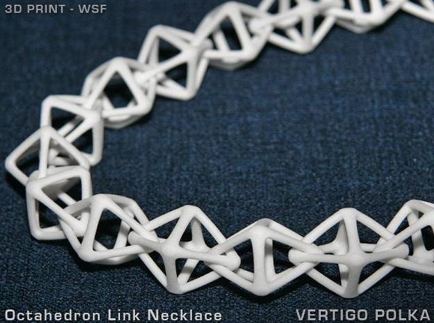Octahedron Link Necklace 3d printed Octahedron Link Necklace WSF