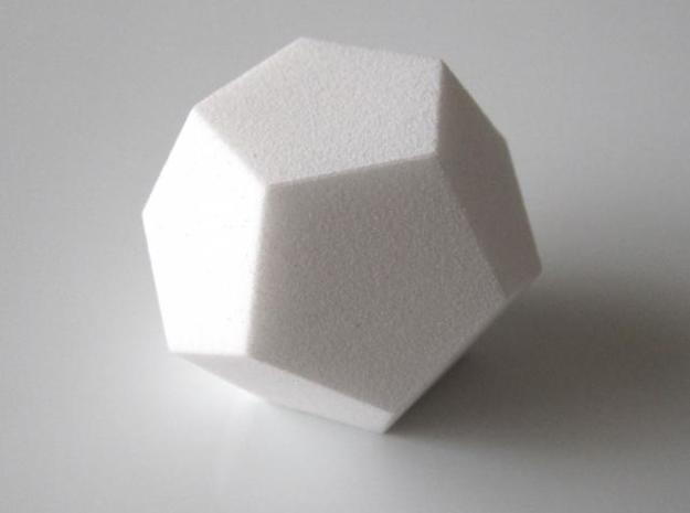 Space Filling Polyhedra 3d printed Dodecahedron in White Strong and Flexible