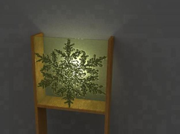 Wall Lamp 3d printed Snowflake render