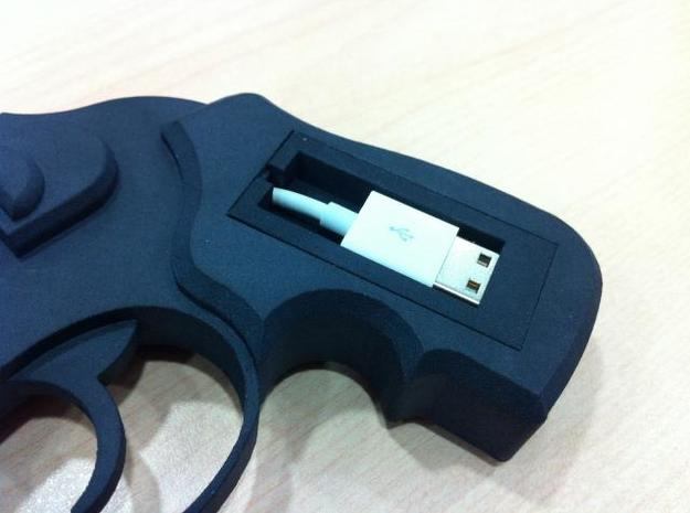 iPhone 4 Ruger 3d printed USB cradle in detail