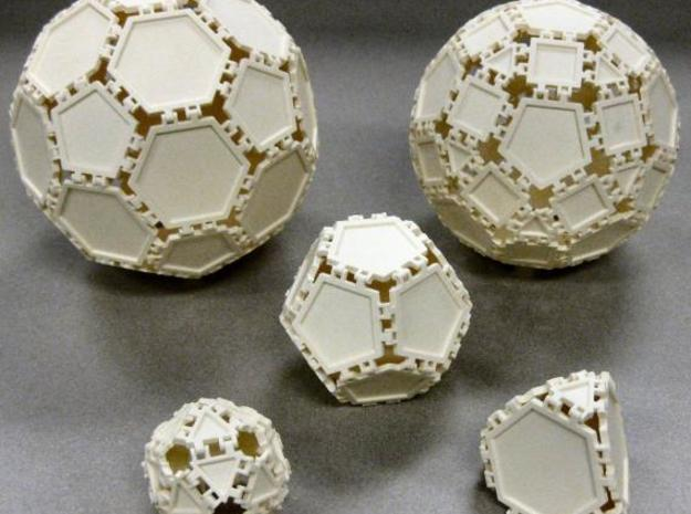 Penta Tile 3d printed Polyhedra built from