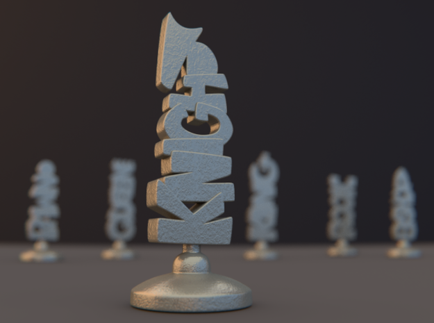 Knight 3d printed Rendered Preview