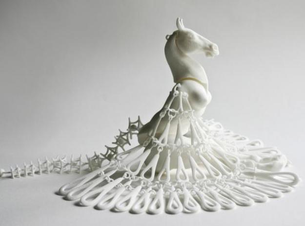 Horse Marionette Sculpture_POLYGONENFILE 3d printed The Horse Marionette from the side