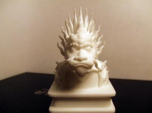 Lion Dog Bust 3d printed Front of printed Lion Dog