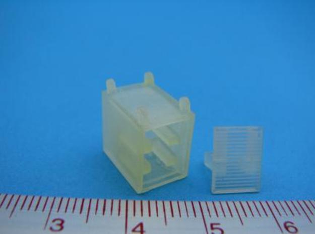 HO/1:87 Fire extinguisher container kit 3d printed Unpainted model (as delivered)