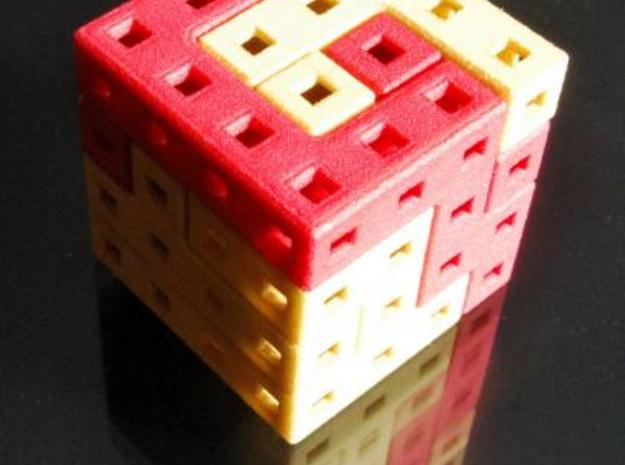 Roll Up! Roll Up! 3d printed Cube solved
