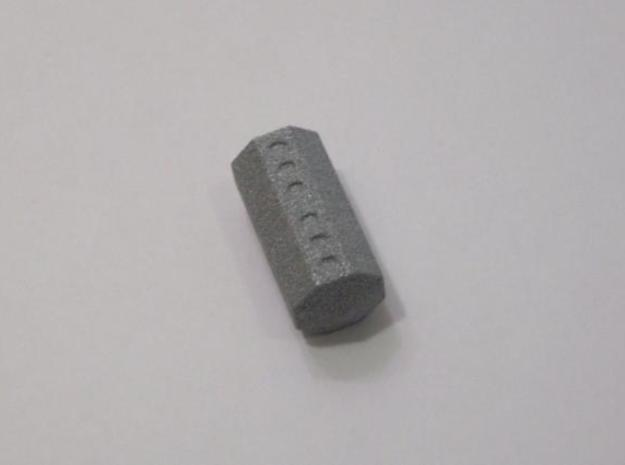 Cycle D8 Die (small) 3d printed Printed in Alumide. A roll of six is shown.